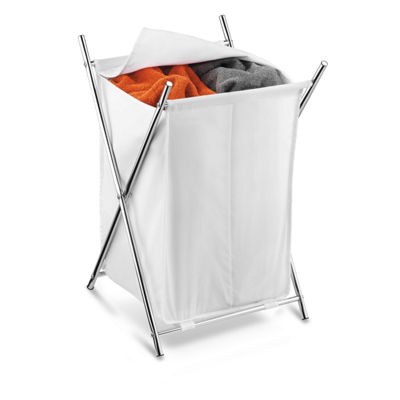 Honey-Can-Do® 2-Compartment Chrome Folding Hamper