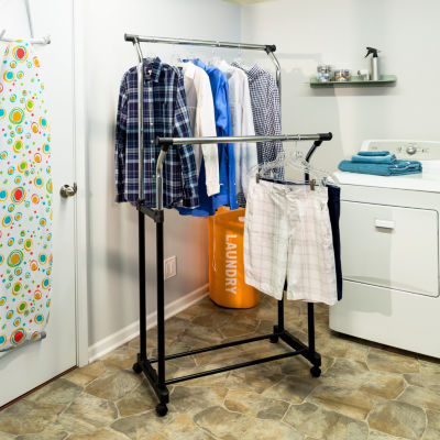 Honey-Can-Do® Flared Double Garment Rack