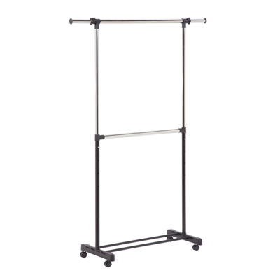 Honey-Can-Do GAR-01767 Double Bar Garment Rack