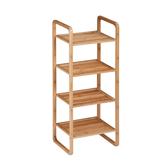Honey Can Do 4 Tier Bamboo Accessory Shelf