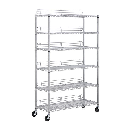 Honey Can Do 6 Tier Urban Shelving Unit Chrome