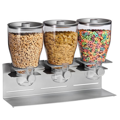 Honey-Can-Do® Triple Canister Dry Food Cereal Dispenser