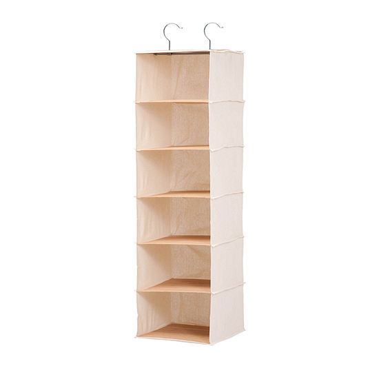 Honey Can Do 6 Shelf Bamboo Hanging Organizer