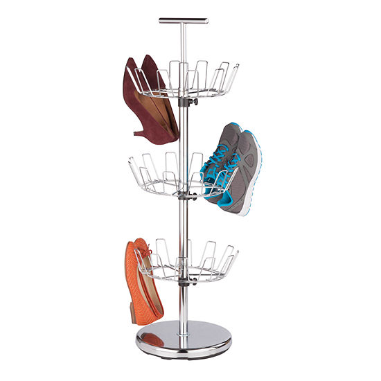 Honey-Can-Do® 3-Tier Revolving Chrome Shoe Tree