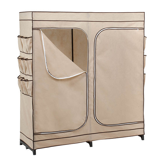 Honey Can Do Double Door Clothing Storage Closet W Shoe Organizer