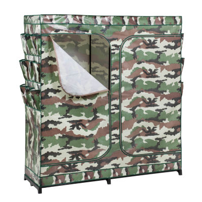 Honey-Can-Do® Camouflage Double-Door Storage Closet