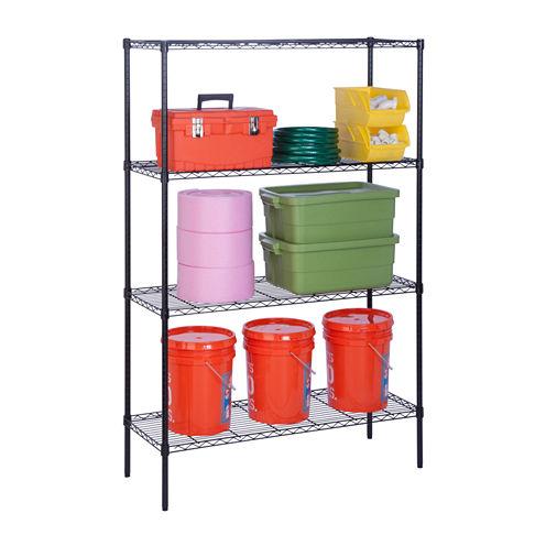 Honey-Can-Do® 4-Tier Steel Adjustable Storage Shelf