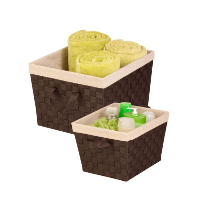 Honey-Can-Do STOX05041 2-Pack Basket with Liner Set