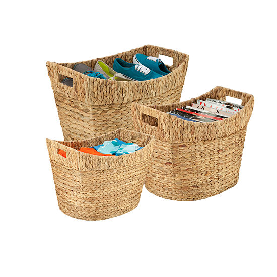 Honey-Can-Do® 3-pc. Tall Water Hyacinth Baskets