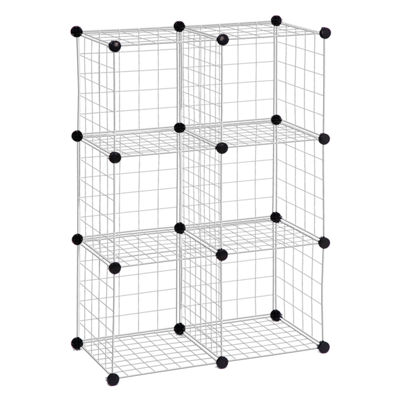 Honey-Can-Do® 6-Pack Modular Mesh Storage Cubes