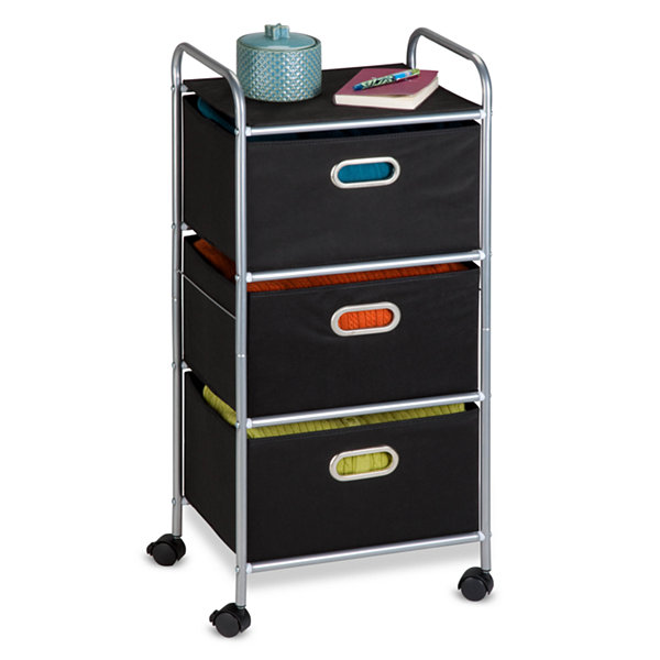 Honey-Can-Do® 3-Drawer Rolling Storage Cart