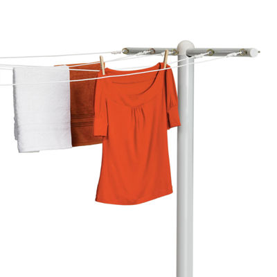 Honey-Can-Do® 5-Line Outdoor Clothesline T-Post