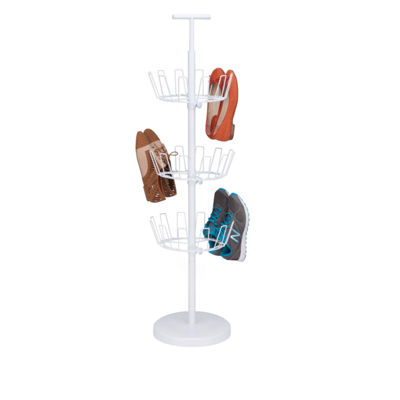 Honey-Can-Do® 3-Tier Revolving Shoe Tree - White