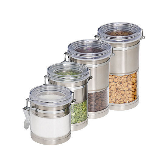 Honey Can Do 4 Pc Storage Canister Set