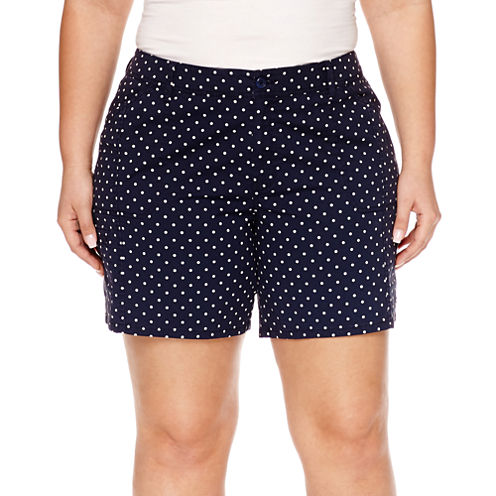 "St. John's Bay® Twill Cargo Shorts-Plus (7"")"