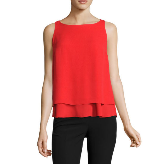 Worthington Double Layer Tank Top