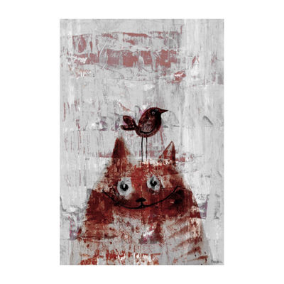 Bird Head Painting Print on Wrapped Canvas