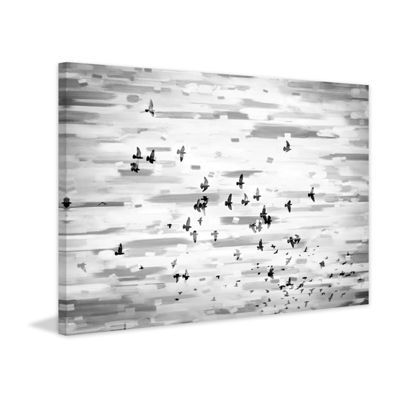Birds in Flight Painting Print on Wrapped Canvas