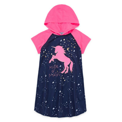 Arizona Hooded Short Sleeve Unicorn Dorm - Girls 4-16