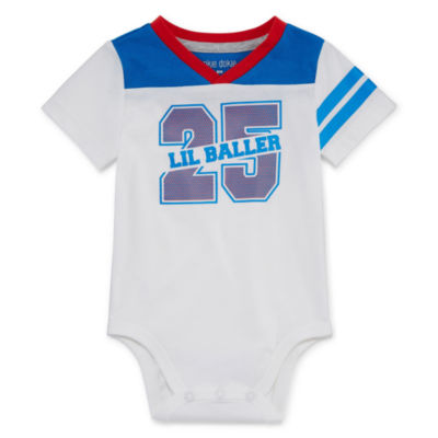 Okie Dokie Short Sleeve V-Neck Bodysuit - Baby Boy NB-24M
