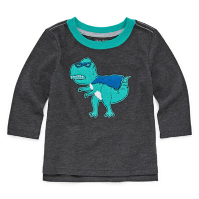 Okie Dokie Dinosaur Long Sleeve Crew Neck Tee - Baby Boy 3M-24M