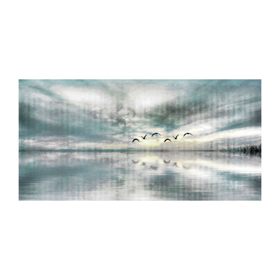 Birds Skylight Painting Print on Wrapped Canvas