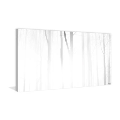 Blinding White Painting Print on Wrapped Canvas