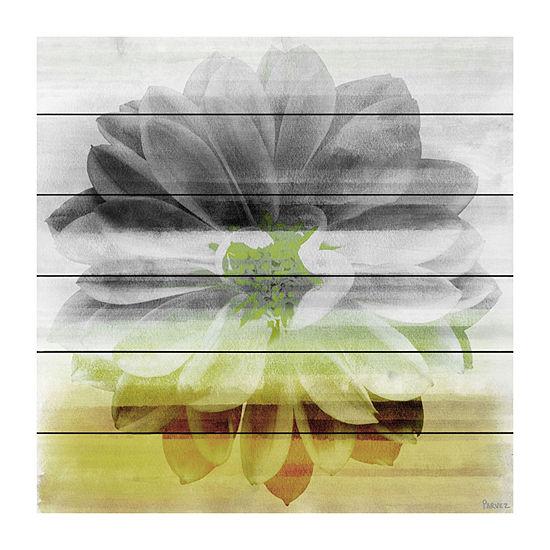 Bloom Painting Print on White Wood