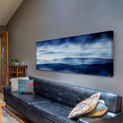 Blue Mountains Painting Print on Wrapped Canvas