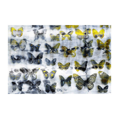 Yellow Wings Painting Print on Wrapped Canvas