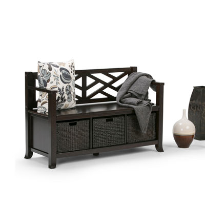 Adrien Storage Bench With Basket Storage