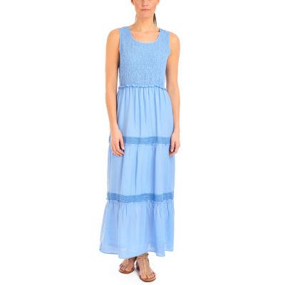 NY Collection Sleeveless Tiered Skirt Maxi Dress