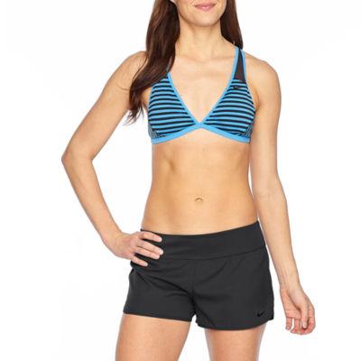 Nike Stripe Bra Swimsuit Top