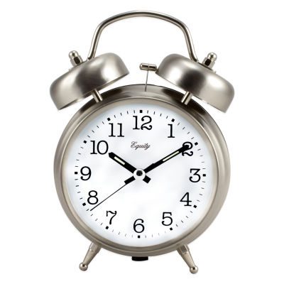 Equity by La Crosse Analog Twin Bell Quartz Alarm Clock