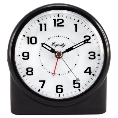 Equity by La Crosse Analog Alarm Table Clock with Night Vision Technology