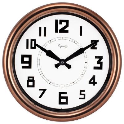 Equity by La Crosse 12 Inch Copper Wall Clock