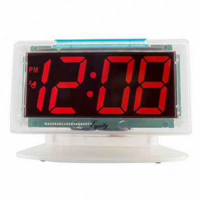 Equity by La Crosse Jumbo Clear 1.8in. Red LED Electric Alarm Clock