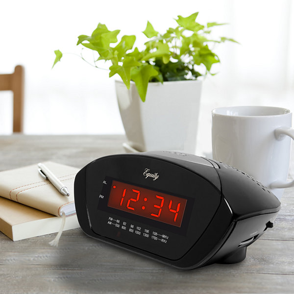 Equity by La Crosse Red LED 0.6 Inch AM/FM Clock radio