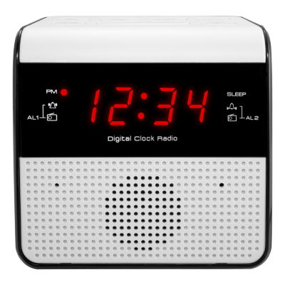 Equity by La Crosse FM Alarm Clock Radio with USB charge port