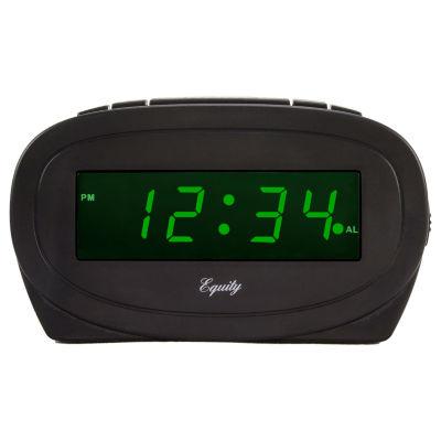 Equity by La Crosse Digital 0.60 In. Green LED Electric Alarm Clock