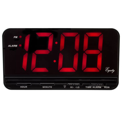 Extra-Large 3 In. Red LED Electric Alarm Clock with HI/LO settings