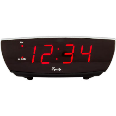 Equity by La Crosse 0.9 In. LED Electric Alarm Clock with USB port