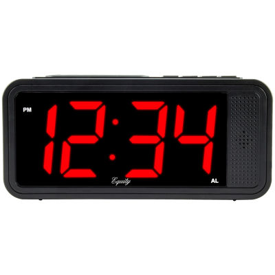 "Equity by La Crosse 1.8"" LED Simple Set Alarm Clock with HI/LO dimmer"