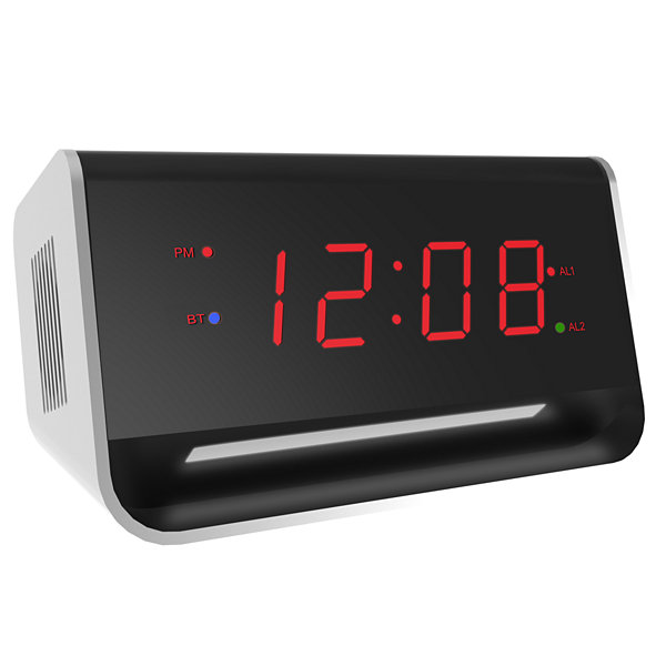 Equity by La Crosse 0.9 Inch LED Alarm with Bluetooth & USB port