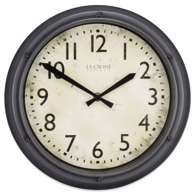 La Crosse Clock 12 Inch Round Porthole Analog Plastic Wall Clock