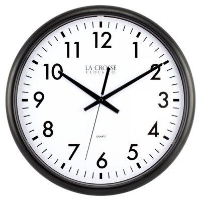 La Crosse Clock 13.5 Inch Quartz Thin Line Analog Wall Clock