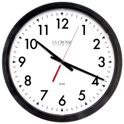 La Crosse Clock 14 Inch Commerical Analog Wall Clock