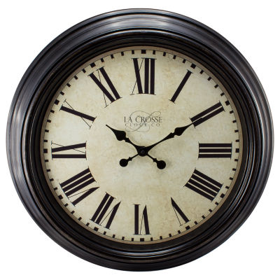 La Crosse Clock 23 Inch Round Dial Analog Wall Clock with Roman Numerals