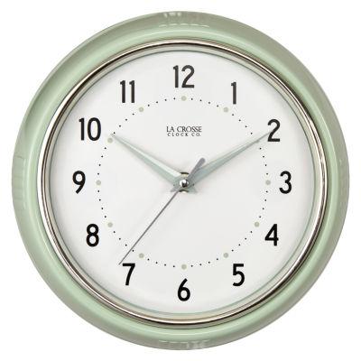 "La Crosse Clock 9.5"" Retro Diner Analog Wall Clock"