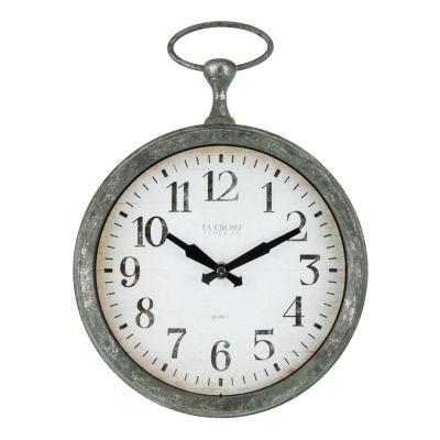 La Crosse 9 Inch Pocket Watch Analog Wall Clock